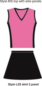 netball skirts and tops