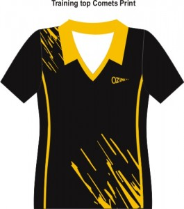 Training tops Comets print